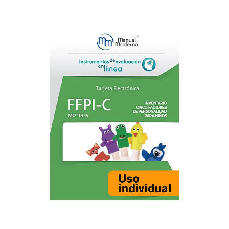 Tarjeta Uso Individual / FFPI-C. Inventario Cinco Factores de Personalidad para Niños