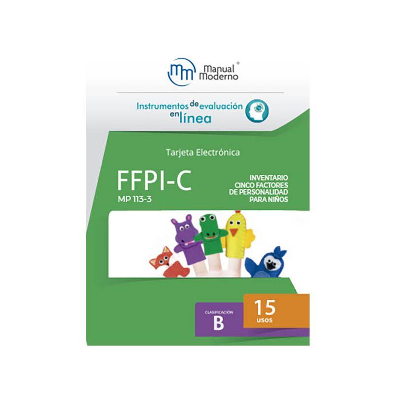 Tarjeta electrónica / FFPI-C. Inventario Cinco Factores de Personalidad para Niños