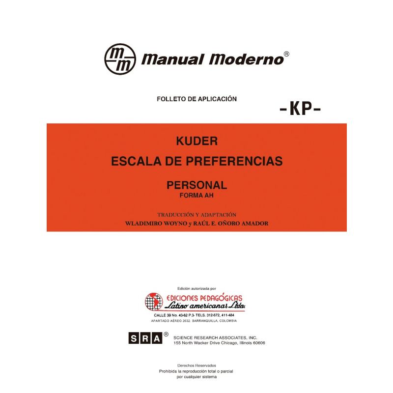 Escala de preferencias -Personal-